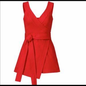 ALEXIS lexi red wrap romper size L